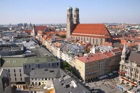 gigantic: panorama of Munich with Cathedral of Our Lady