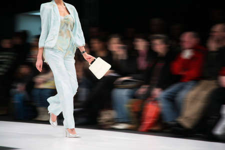 fashion model on podium Фото со стока