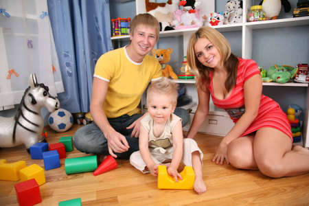 family in playroom Stock Photo - 3014326