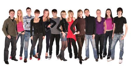 long dozen of young people photo