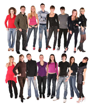 sixteen young people group photo