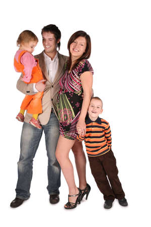 brunets: Young family with children 2
