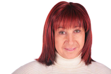 Red-haired woman close-up Stock Photo - 3014382
