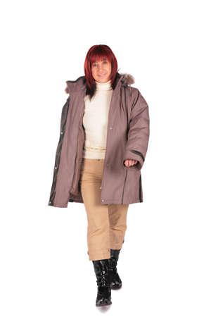 Woman in winter coat 2 photo