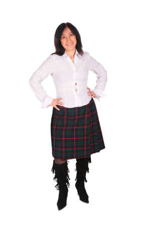 Woman in skirt photo
