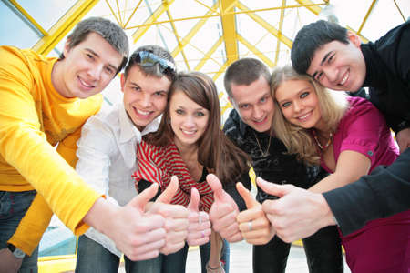 friends group gesturing ok Stock Photo - 3019210