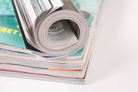 curled magazined on stack Stock Photo - 3012285