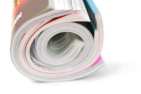 curled magazines Stock Photo - 3012286