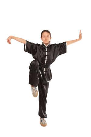 Wushu girl stance