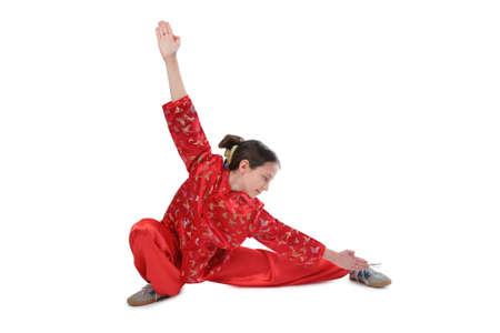 wushu girl in red photo