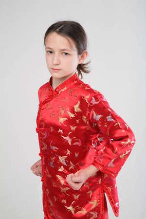 wushu girl Stock Photo