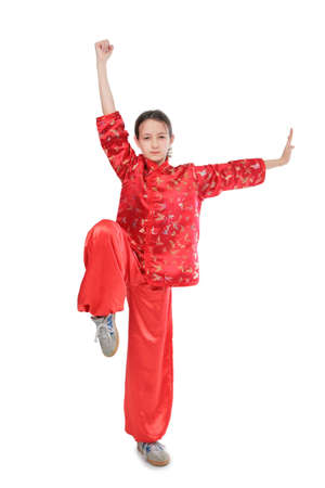 Kung fu girl high stance photo