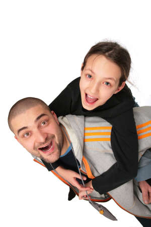smoothfaced: Father plays with daughter 2 Stock Photo