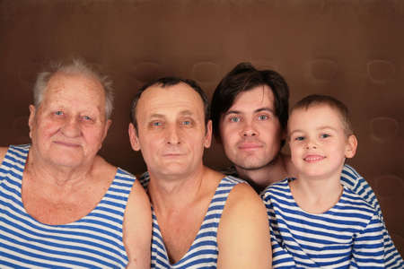 four generations in frocks photo