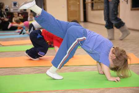 girl is engaged in gymnastics 5 photo