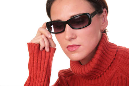 young woman in dark glasses Stock Photo - 3023346