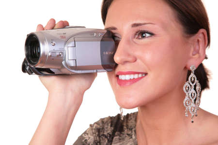 woman with camcorder photo
