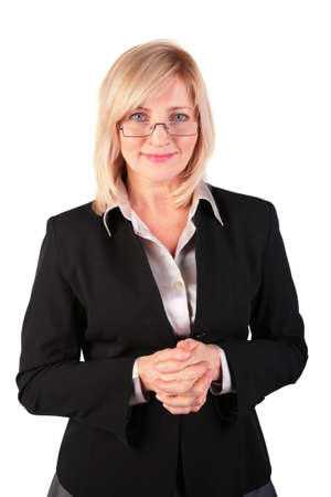 middleaged business woman posing in glasses photo