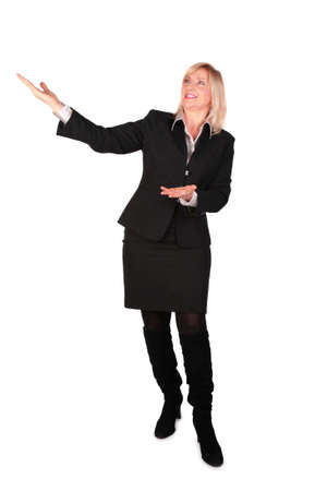 Middleaged businesswoman shows... photo