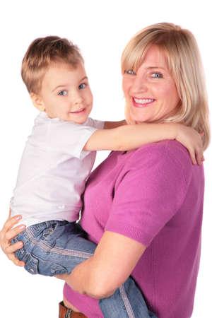 Mujer con niño posando  Foto de archivo - 3023494