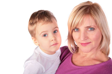 middleaged woman with little girl Stock Photo - 9758145