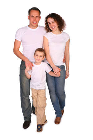 Family of three posing Stock Photo - 3030591