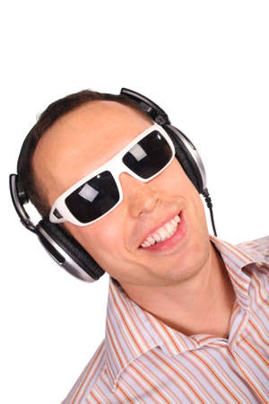 neckless: music man with sunglasses Stock Photo