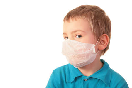boy in respirator photo