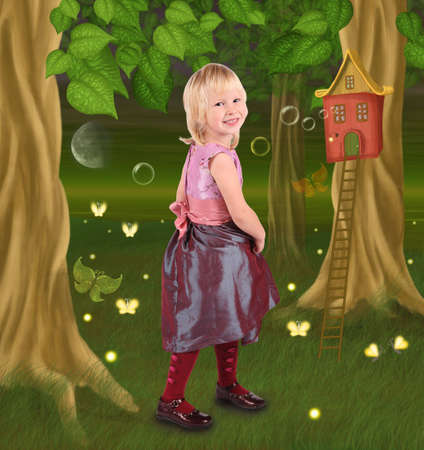little girl in fairy tale photo