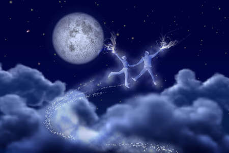 Dancing pair in the moonlight photo