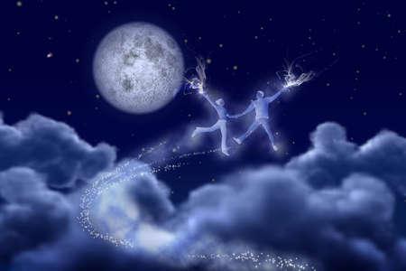 Dancing pair in the moonlight photo