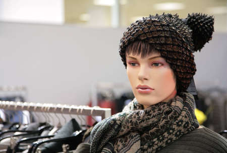 woman mannequin in trendy hat Stock Photo - 5103366