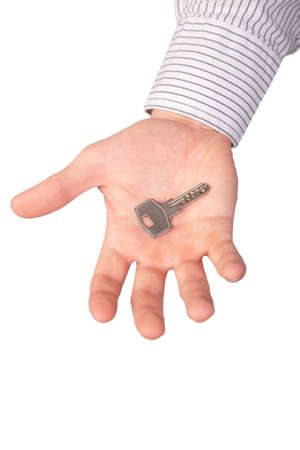 Hand holds key photo