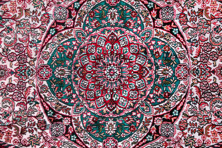 wool rugs: carpet with floral ornament