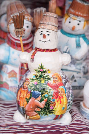 painted toy snowmans photo