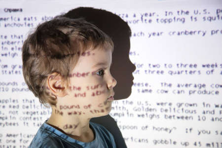 child an text projection device Stock Photo - 5134559