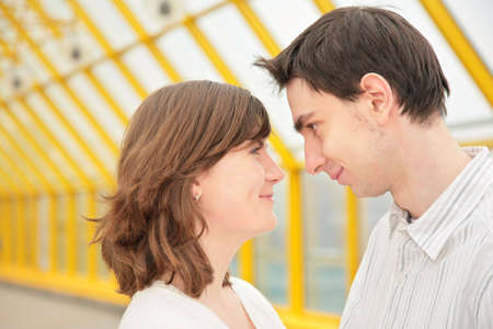 boy and girl look at each other Stock Photo - 5155521