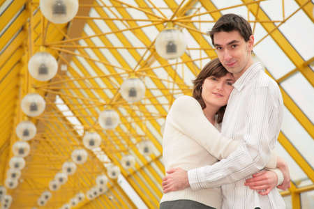 boy and girl embrace each other Stock Photo - 5155524