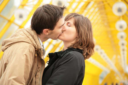 kissing couple Stock Photo - 5155514
