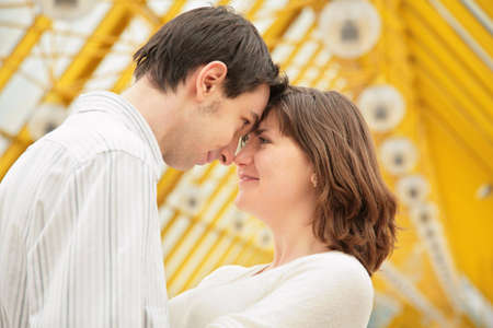 boy and girl look at each other with love Stock Photo - 5155513