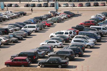 automobiles on parking photo