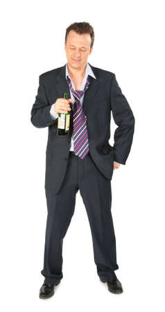 businessman with bottle of wine Stock Photo - 5134917