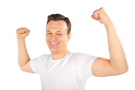robust: man shows musculature