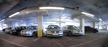 panorama of car`s parking photo