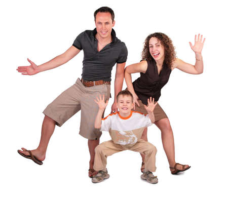 group dance: father, mother and son dance