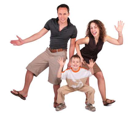 chicas bailando: padre, la madre y el hijo de baile