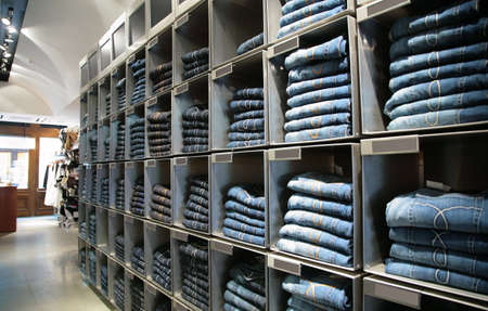 cells with jeans in shop Stock Photo - 5105563