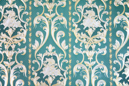paperhanging: ornament on wallpaper