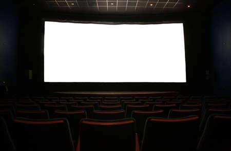 film screen in dark cinema