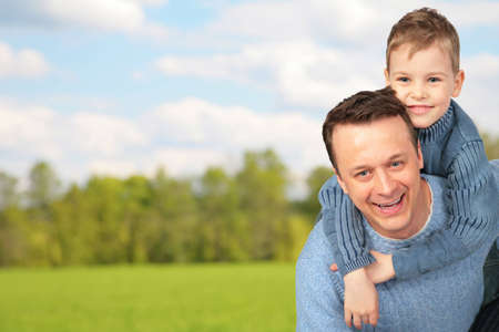 father with child outdoor photo